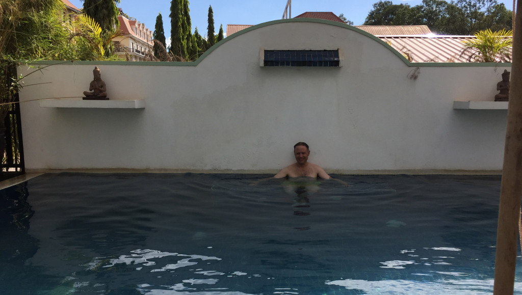 David in the pool at Passaggio Boutique Hotel